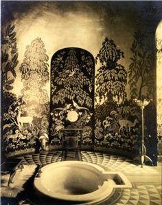 Salle de bain (vers 1924) de l\'appartement privé de l\'hôtel ...