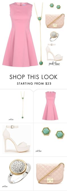 """""""Pretty In Pink"""" by parklanejewelry on Polyvore featuring RED Valentino, Nly Shoes and Forever 21"""