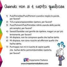 Italian Grammar, Italian Vocabulary, Italian Words, Italian Language, Learn To Speak Italian, Italian People, Learning Italian, Idioms, Foreign Languages
