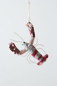 Awesome Ornaments: Spangled Sea Lobster from Anthropologie.