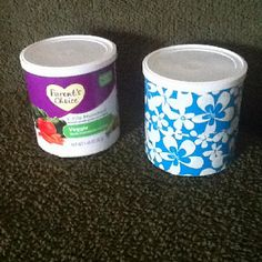 Baby snacks into cute containers! Just use duct tape!:) I am using this in my classroom for storage.