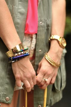 Love the arm party goin on here:)