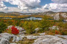 Fall Colours in Killarney Provincial Park, Ontario.