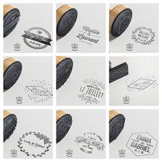 collection de tampons de mariage pour personnaliser vos faire parts de mariage - Drag Mariage