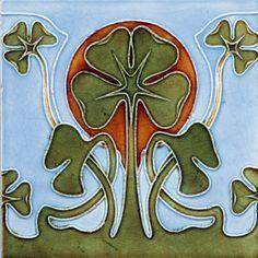 Flight Tracker Collectible Rare Art England Majolica Vintage Border Tiles Antique Nouveau 1900 Antiques