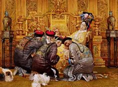 Empress Dowager Cixi and Four Imperial Physicians