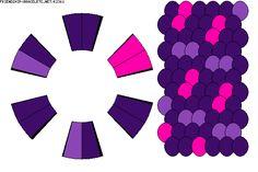 K2361 - friendship-bracelets.net  - 12 strings, 3 colours