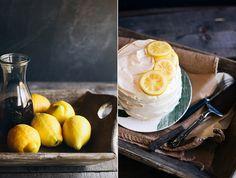 Lemon Cake with Black Tea Frosting - Pastís de llimona amb cobertura de te negre