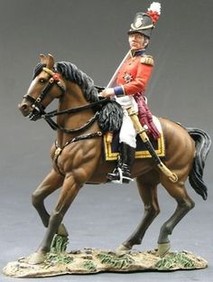 Napoleonic British Army Coldstream Guards Mounted Officer - Made by King and Country Military Miniatures and Models. Factory made, hand assembled, painted and boxed in a padded decorative box. Excellent gift for the enthusiast. British Country, King And Country, Lead Soldiers, Toy Soldiers, Napoleon French, Medieval Horse, Turkish Soldiers, British Army Uniform, Waterloo 1815
