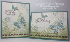 Butterfly Basics Stamp-of-the-Month Class card. collage, butterflies, stampin up, cards Details at www.toocoolstamping.com