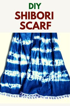 Learn how to make a beautiful cotton shibori scarf. The tutorial shows you shibori tehniques for this stunning textile scarf cotton fabric: 140 x 40 cm. Love Sewing, Sewing Tips, Sewing Hacks, Sewing Ideas, Sewing Projects, Craft Tutorials, Sewing Tutorials, Craft Ideas, Sew Your Own Clothes