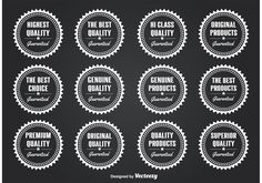 Here is a set of 12 simple but very practical quality seals great for promoting your quality products on your web sites, blogs and more. Enjoy!