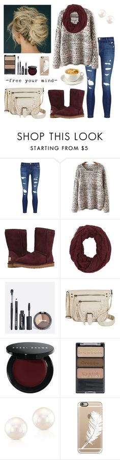 """New year, new me!"" by isabel-harsh ❤ liked on Polyvore featuring J Brand, UGG Australia, Charlotte Russe, Avenue, Target, Bobbi Brown Cosmetics, Wet n Wild, Anne Sisteron, Casetify and IsabelsFaves"