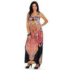 One World Micro Jersey Satin Yoke Stud Detailed Maxi Dress