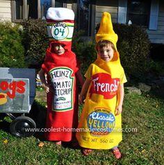 Homemade Ketchup and Mustard Costume