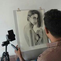 Graphite, Pencil Drawings, Charcoal, Polaroid Film, Selfie, Graffiti, Selfies, Pencil Art