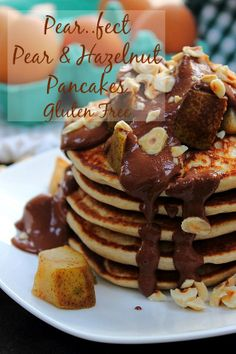 Puffy Pancakes - Pear Hazelnut Pancakes! #glutenfree #dairyfree #bfastfridayclub