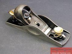 seltener Stanley Einhand Hobel 17 gebraucht / rare Stanley  block plane 17 used