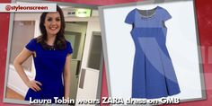 Where did Laura Tobin get her blue skater dress from on Good Morning Britain - Style on Screen Good Morning Britain, Short Sleeve Dresses, Dresses With Sleeves, Skater Dress, Blue, Style, Fashion, Swag, Moda