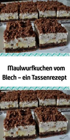 cake - Kuchen Backen - Rezepte - Healt and fitness Fast Dessert Recipes, Banana Dessert Recipes, Easy Cookie Recipes, Cake Recipes, Healthy Desserts, Easy Vanilla Cake Recipe, Chocolate Cake Recipe Easy, Chocolate Chip Recipes, Chocolate Oreo