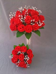 Paper flower wedding bouquets