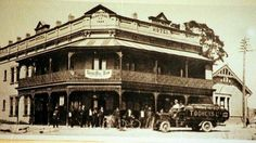 The Railway Hotel at 31 Station St,Hornsby,in northern Sydney  in the very early 1900s.