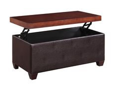 5 Faux Leather Coffee Table Ottoman Combo's For Your Stylish Home!  http://www.veganbanana.com/faux-leather-coffee-table-ottoman/