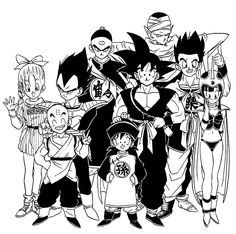 Dragonball gang in their original clothes