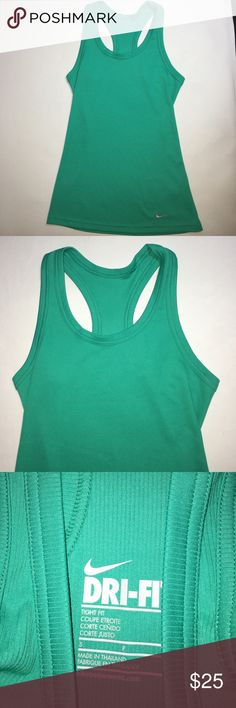 Green. Nike tank In good condition Nike Tops