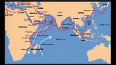 Map of Indian Ocean trade routes