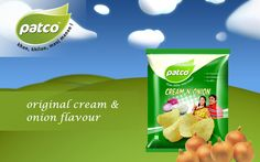 Awesome Taste in Cream 'N' Onion Chips. I like #patcofoods if you like it just share in your friends.
