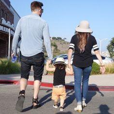 Adam Lambert and Alisan Porter with their godson, Riff Cherry | Source: Adam Lambert instagram