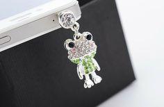New Korean elegant sweet fashion personality refined aesthetic crystal frog phone dust plug P036 on Aliexpress.com