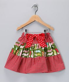 Another great find on #zulily! Red Gingham Stocking Skirt - Toddler #zulilyfinds