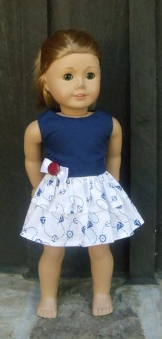 American Girl Doll Clothes  Nautical Blue by camelotstreasures, $15.99