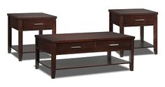 Accent and Occasional Furniture-Gloria 3 Pc. Table Set