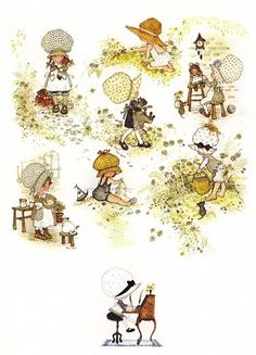 Holly Hobbie - pretty sure this was wallpaper in our room as kids. So pretty.