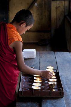 **Lighting Candles Bhutan