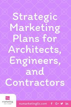 Strategic Marketing Plans are important for architects, engineers, & contractors, because it gives them a plan to implement and takes you to the next level. Business Branding, Business Marketing, Internet Marketing, Social Media Marketing, Digital Marketing, Strategic Marketing Plan, Strategic Planning, Construction Business, Competitor Analysis