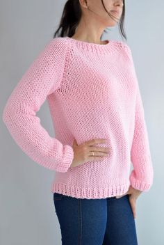 This Fairy Kei Sweater Pattern // Oversized Sweater Menhera Sweater Kawaii Clothing Knit Sweater Easy Sweater Knit Raglan Jumper Knit Pullover is just one of the custom, handmade pieces you'll find in our patterns & blueprints shops. Easy Sweater Knitting Patterns, Cardigan Pattern, Knit Patterns, Knitting Sweaters, Handgestrickte Pullover, Oversized Pullover, Kawaii Sweater, Party Wear Dresses, Knit Crochet