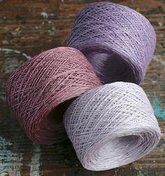 Linen yarn thread  three balls  lavender  5ply by namolio on Etsy, £11.75