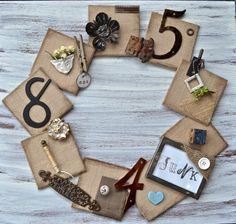 Junk-wreath-country-design-style #wreath #junk #wreath http://countrydesignstyle.com