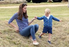 Prince George couldn't BE any cuter at the Festival of Polo charity tournament with Kate Middleton. See every adorable picture.