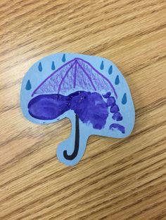 Umbrella footprint art