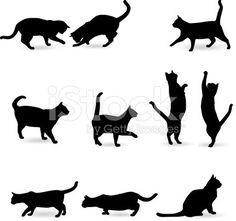Cat Silhouette royalty-free vector art illustration