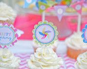 pinwheel party just add kids and cupcakes