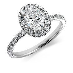 Oval Cirque Diamond Ring in 18k White Gold (1.74 cttw)
