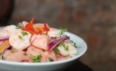 Ceviche de salmão com camarão (Foto: Divulgao/Godofredo Rio)