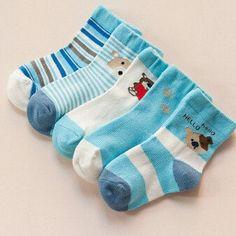 Kiddie Knee-High Cotton Socks