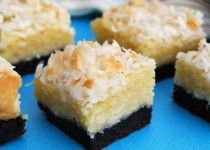 Gonna Want Seconds - Black-Bottom Coconut Bars